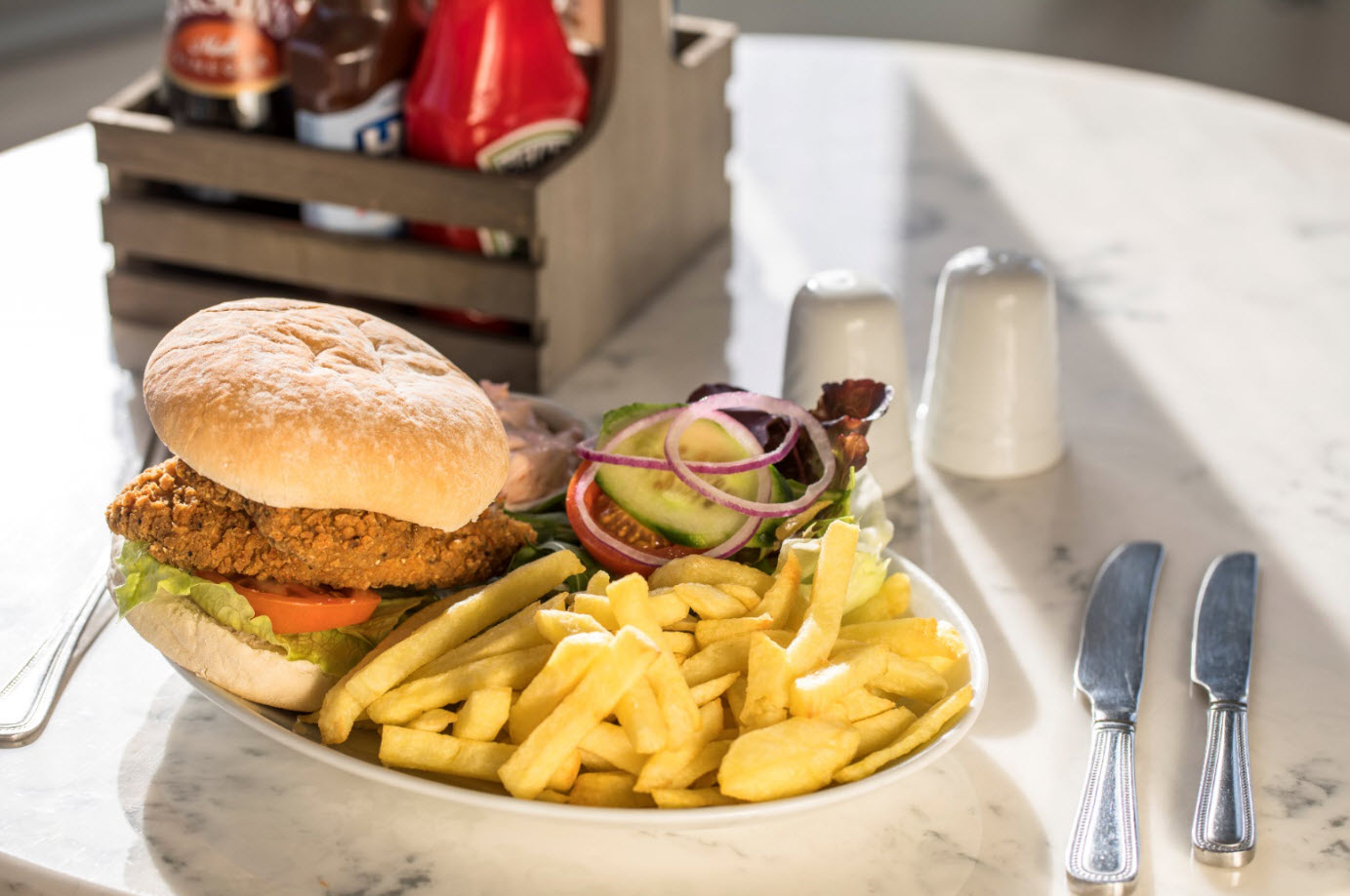 Southern Fried Chicken Burger at The Lobster Pot
