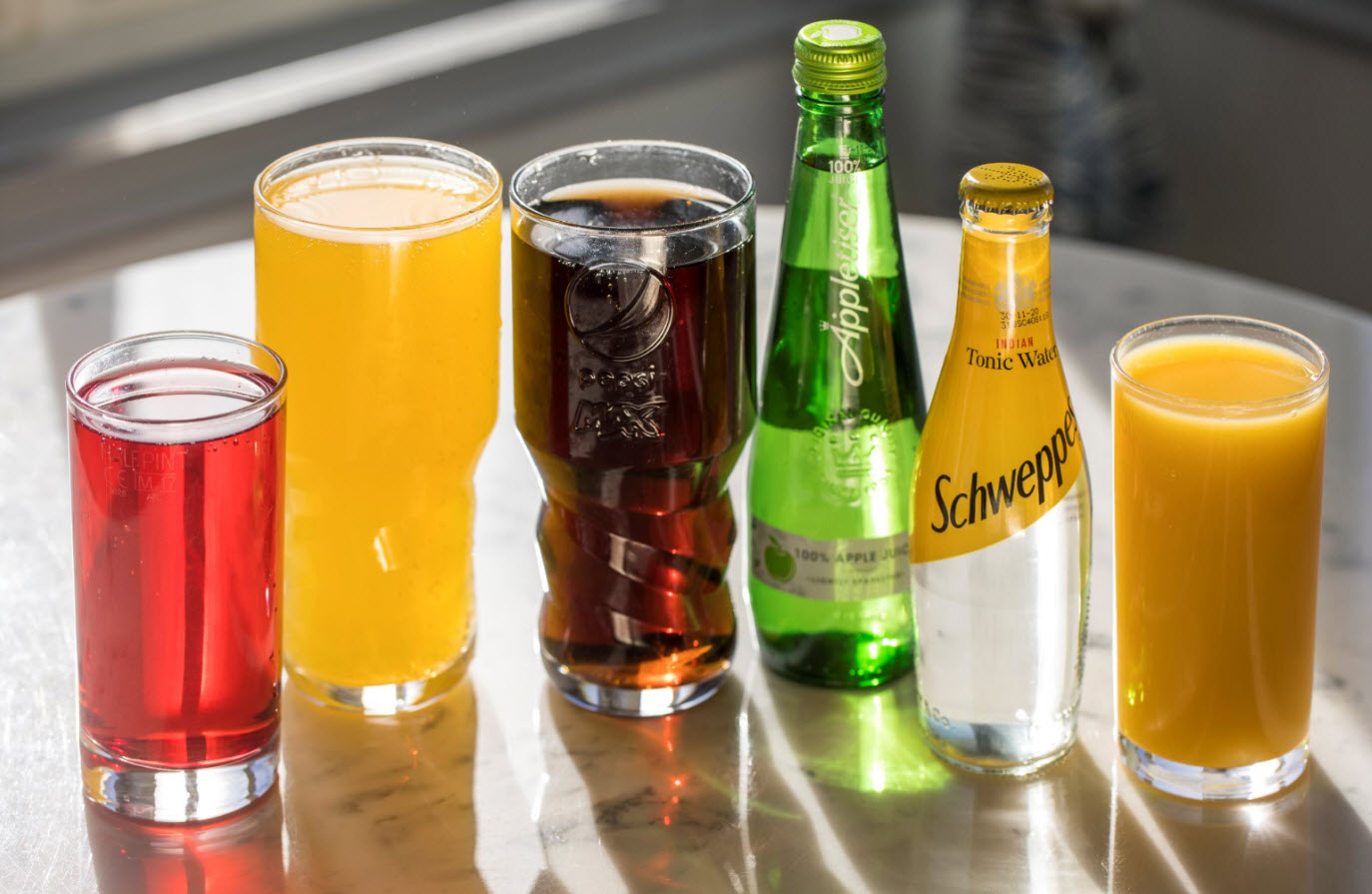 Selection of Soft Drinks served at The Lobster Pot