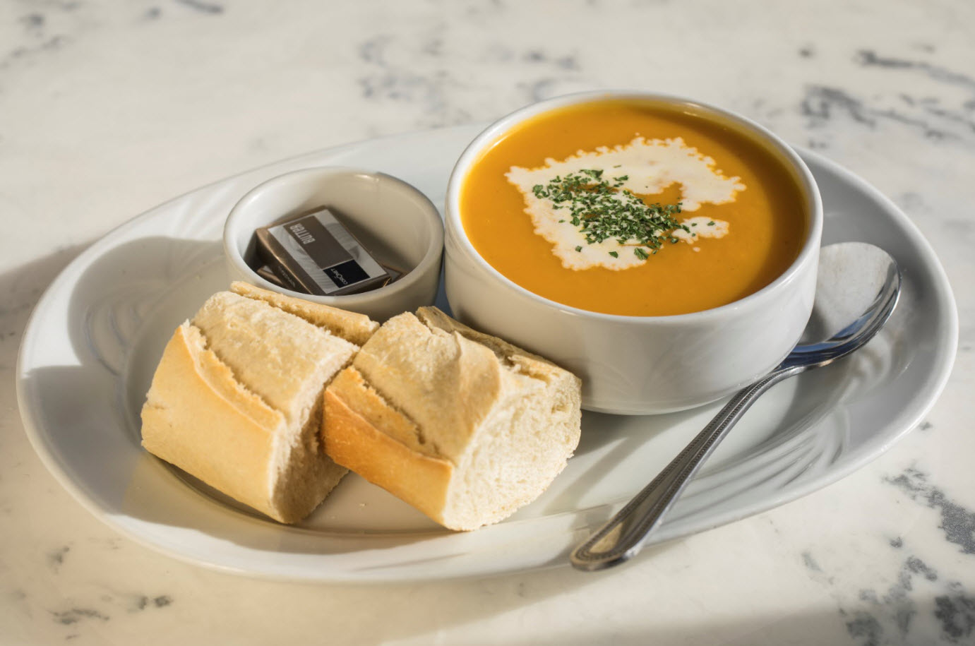 Freshly Made Soup of the Day at The Lobster Pot (Please Note: This changes regularly)
